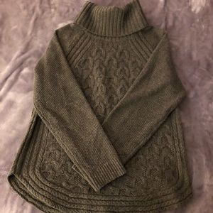 Brown Turtle Neck cable knit sweater